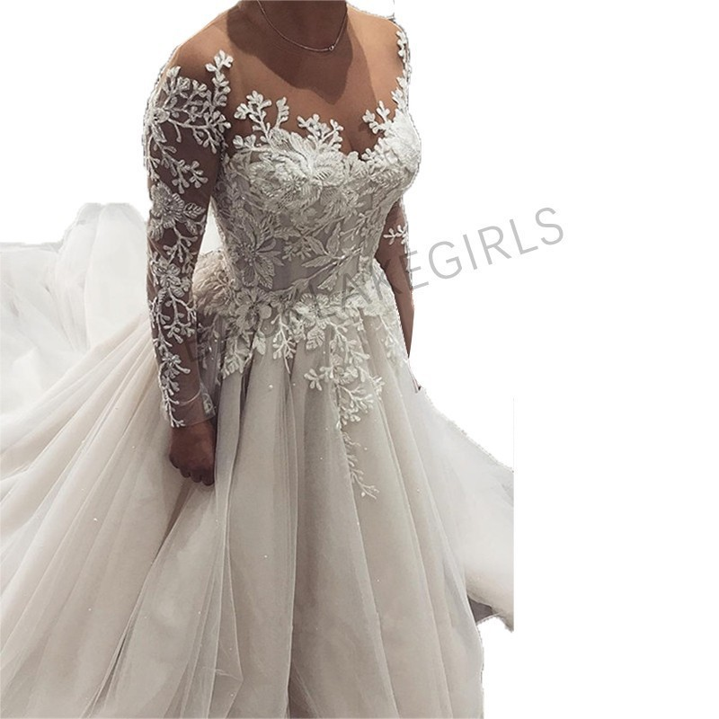 Wedding Gowns Outlet: Long Sleeves Wedding Dress 2019 Vestido De Noiva Bride