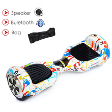 Electric Skateboard Gyroscooter Hoverboard 6.5 Inch Bluetooth Speaker Electrico Scooter Hoverboard Two Wheel Balance Scooter electric scooter self balance scooter hoverboard skateboard blutooth speaker remote key gyroscooter smart balance wheel scooter