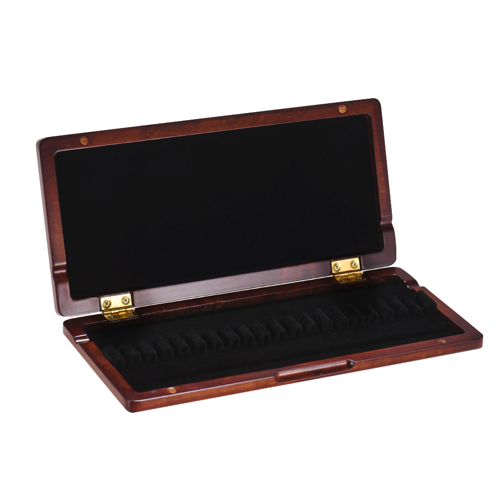 Container Reeds Holder Storage Box Wooden Reed Case With Inner Soft Cloth Instrument Accessories For 20pcs Oboe Reeds Redwood