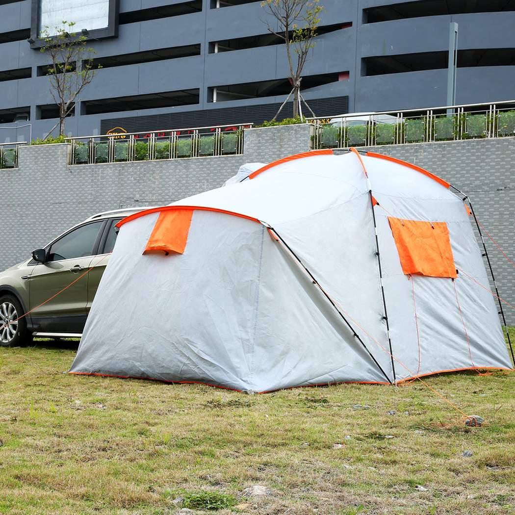 365 × 230 cm Portable tissu oxford imperméable SUV tente pour voiture Camping Randonnée Pique-Nique Facile Mettre En Place Une Chambre À Coucher et Un Salon tentes