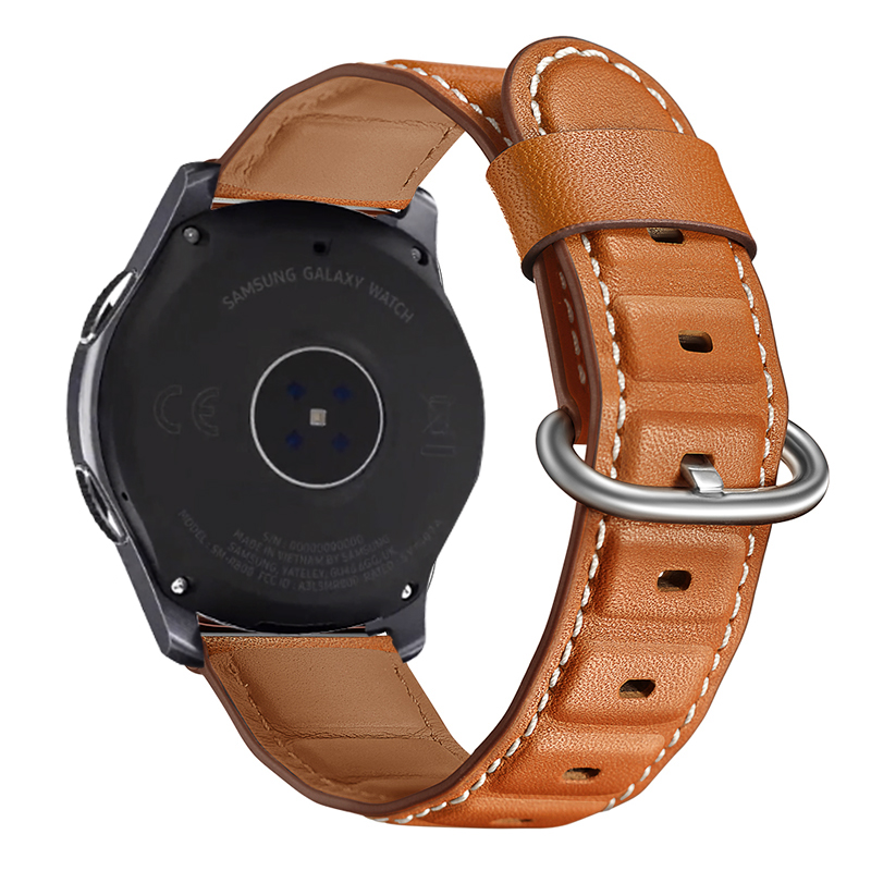 For Galaxy Watch 46mm Genuine Leather Bamboo Style Wrist Strap For Samsung Gear S3 Bracelet Amazfit 1/2 Huawei GT Watchband 22mmFor Galaxy Watch 46mm Genuine Leather Bamboo Style Wrist Strap For Samsung Gear S3 Bracelet Amazfit 1/2 Huawei GT Watchband 22mm