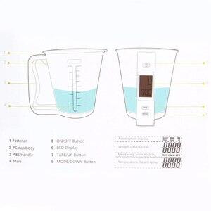 Image 5 - Copo de medição escalas de cozinha digital beaker libra ferramenta eletrônica escala com display lcd temperatura