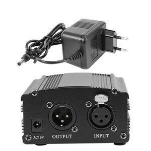 Image 3 - עבור Bm 800 מיקרופון 48V פנטום אספקת חשמל עם מתאם XLR אודיו כבל עבור הקבל מיקרו קריוקי מיקרופון Mikrofon