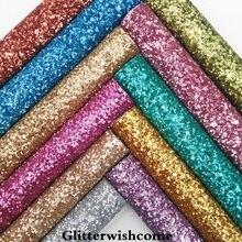 Glitterwishcome 21X29 см A4 Размеры синтетическая кожа, матовый Коренастый Блеск кожи, кожа ткань винил для Луки, GM041A