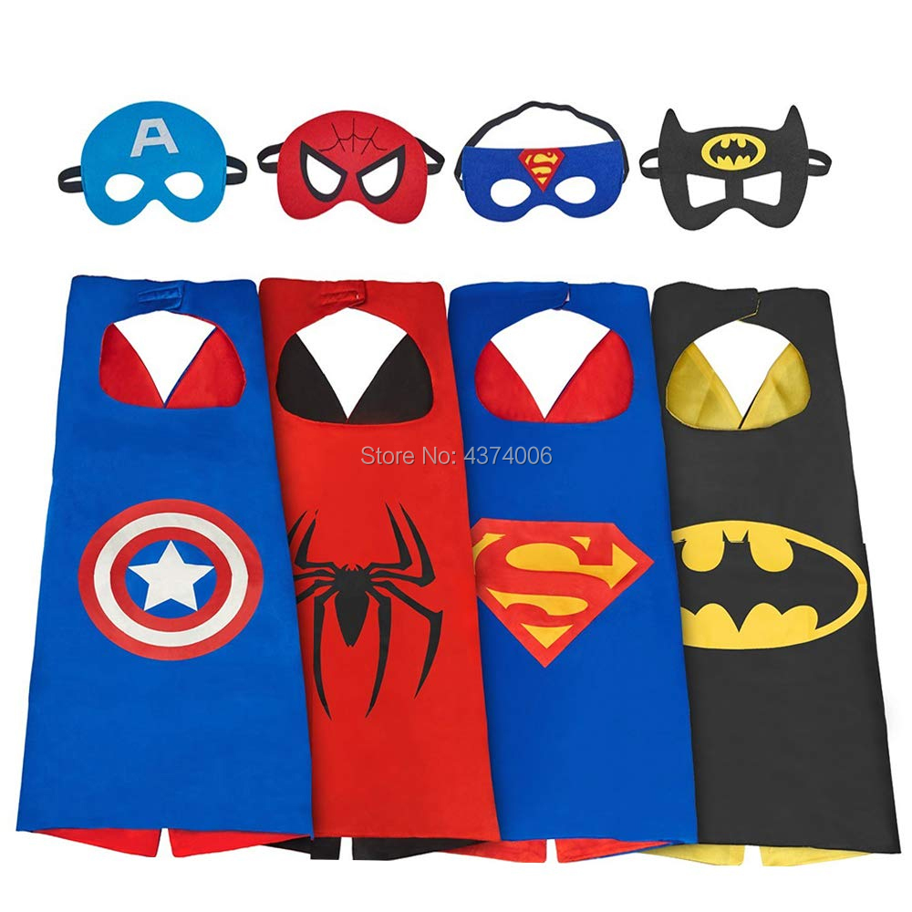 Spiderman Batman Costume Toys Captain-America Dress-Up Movie-Character Hero Children