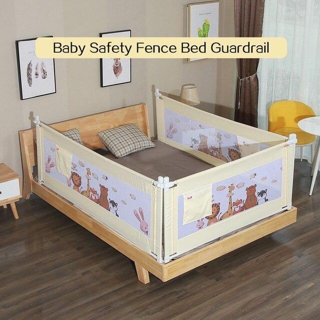 150 180cm 200cm Baby Safety Fence Cartoon Newborn Guard Adjustable Bed Rail Infant Pocket Playpen Crib Rail Infant Guardrail