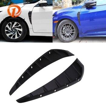 POSSBAY marcador lateral de coche cubierta de flujo de aire Fender Flare ala de aire decoración de ventilación para Honda Civic Sedan/Coupe/ hatchback 2016-presente