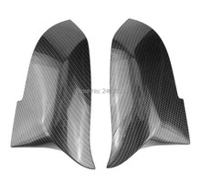1 Pair Rearview Mirror Cover Cap ABS for BMW Series 2 3 4 X M 220i 328i 420i F20 F21 F22 F23 F30 F32 F33 F36 X1 F87 E84 M2