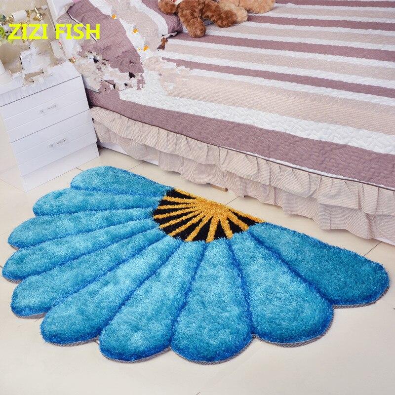 80X150 CM épaissir secteur tapis pour chambre moderne 3D fleur tapis et tapis canapé tapis de sol enfants jouer tapis Floral paillasson