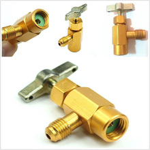 1pc Car R134a Air Conditioner A/C Refill Refrigerant Tap Valve Bottle Opener Adapter Refueling Conditioning Kit