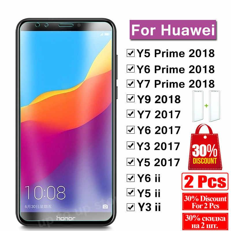 9 H 保護ガラス huawei ため Y5 Y6 Y7 Y9 プライム 2018 強化ガラス huawei Y 5 6 7 9 2017 Y5 ii カバープロテクターフィルム