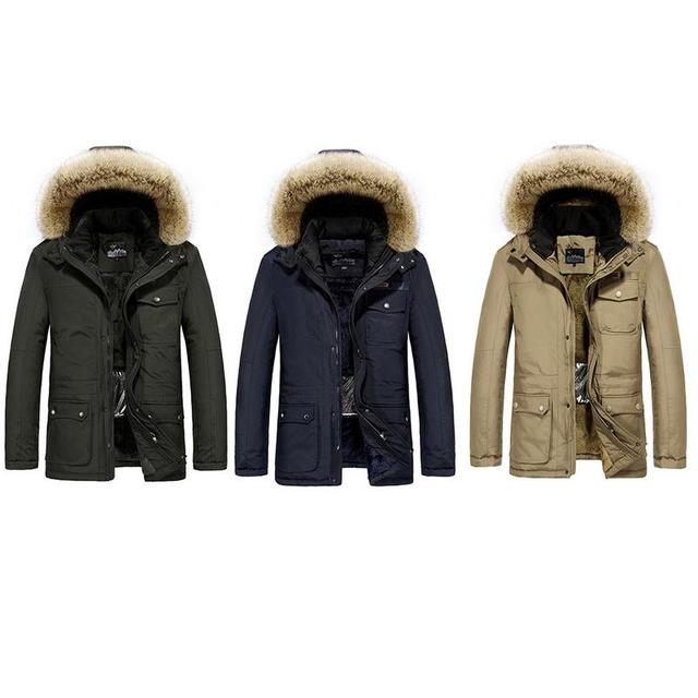 Autumn And Winter Cotton Clothes Father Heated Jacket Casual Heated Coat Fleece Lined Coat Charging Heated Jacket For Men Male 1
