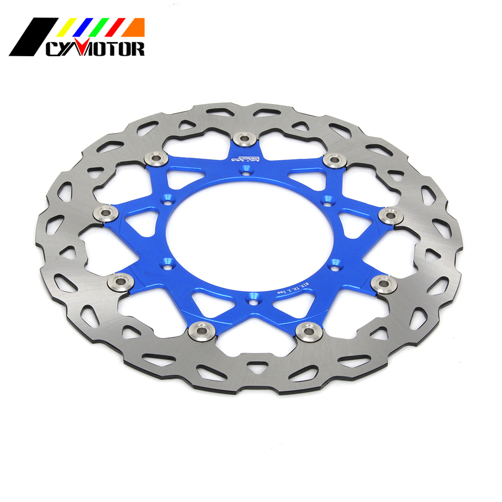 320MM Floating Wavy Brake Discs Rotor For YAMAHA WR250 YZ250 WR250F YZ250F WR426F YZ426F WR450F YZ450F
