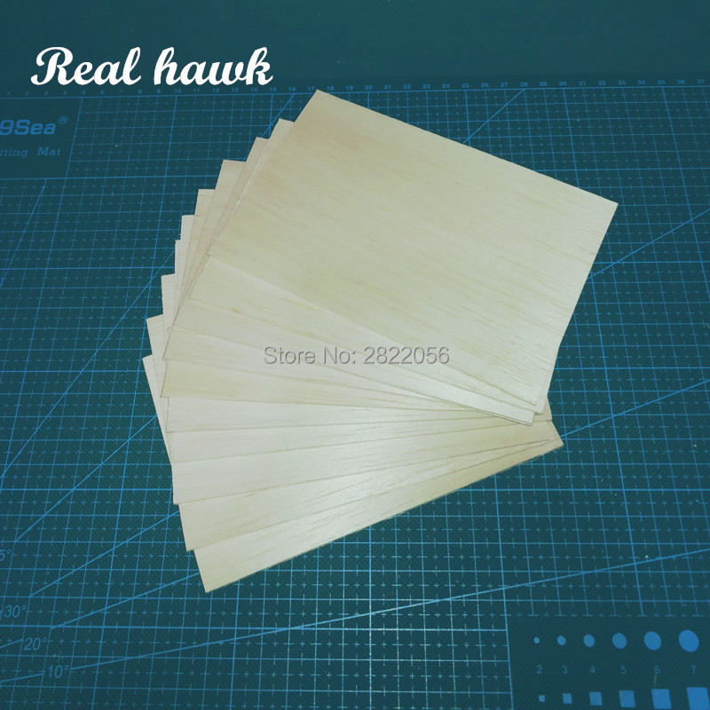 AAA+ Balsa Wood Sheets 150x100x5mm Model for DIY RC model wooden plane boat material