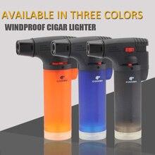 COHIBA Windproof Cigar Lighter Portable 1 Jet Gas Torch Flam