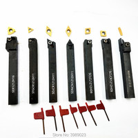 7 PCS 12mm CNC turning tool with carbide blade screw cutting tool outside circular turning tool cutting tool DCMT11T304 MGMN200