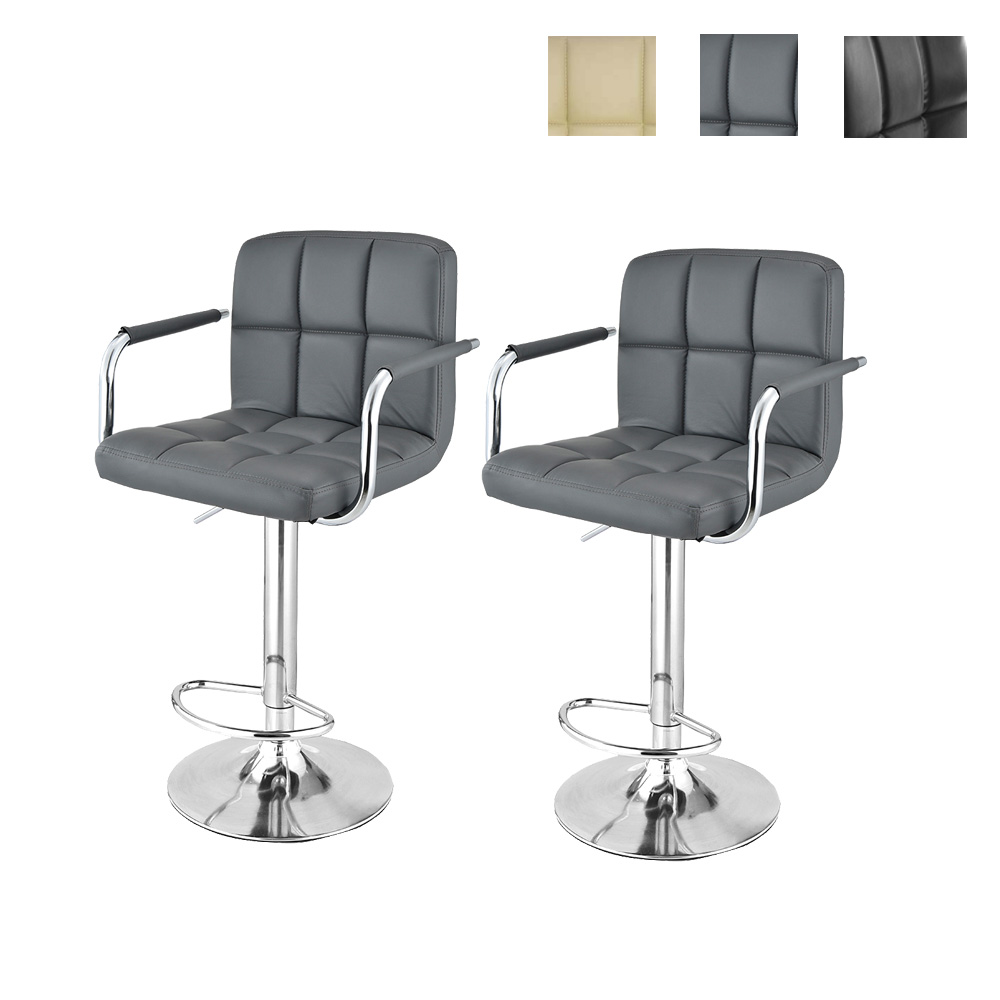Bar Chairs Bar Furniture 2pcs Modern Adjustable Backrest Bar Chairs 360 Degree Rotation Seat Stool Restaurants Living Room Office Cafe Furniture Kit