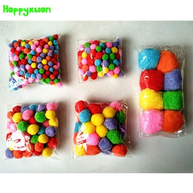 Happyxuan 5 Pack Mixed Color 10 50mm Multicolor Pompoms Pom Pom