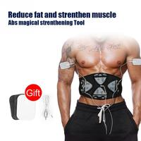 Smart EMS Abs Stimulator Muscle Strengthen Pad Fitness Body Abdominal Arm Workout Machine 4 Controllers Abs Muscle Training Belt