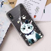 CASEIER 3D Relief mignon chat étui pour iphone 7 8 X Silicone souple TPU joli étui pour iphone 7 5 s 6 6 s 8 Plus chats Funda Coque Capa(China)