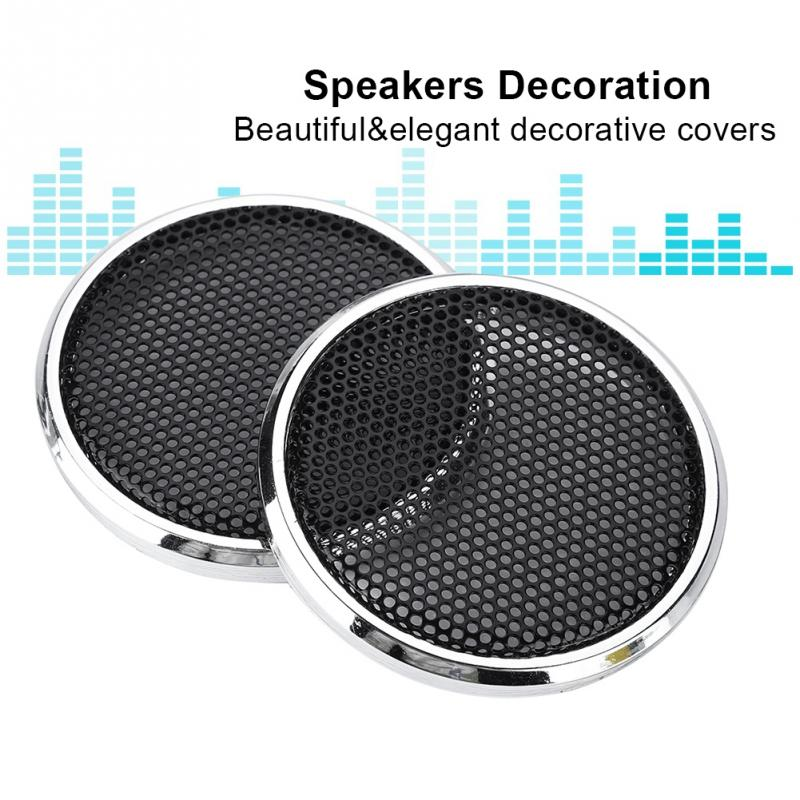 2 PCS 1 inch Audio Speakers Decoration Protective Grills Cover Steel mesh Case Shatter Resistant