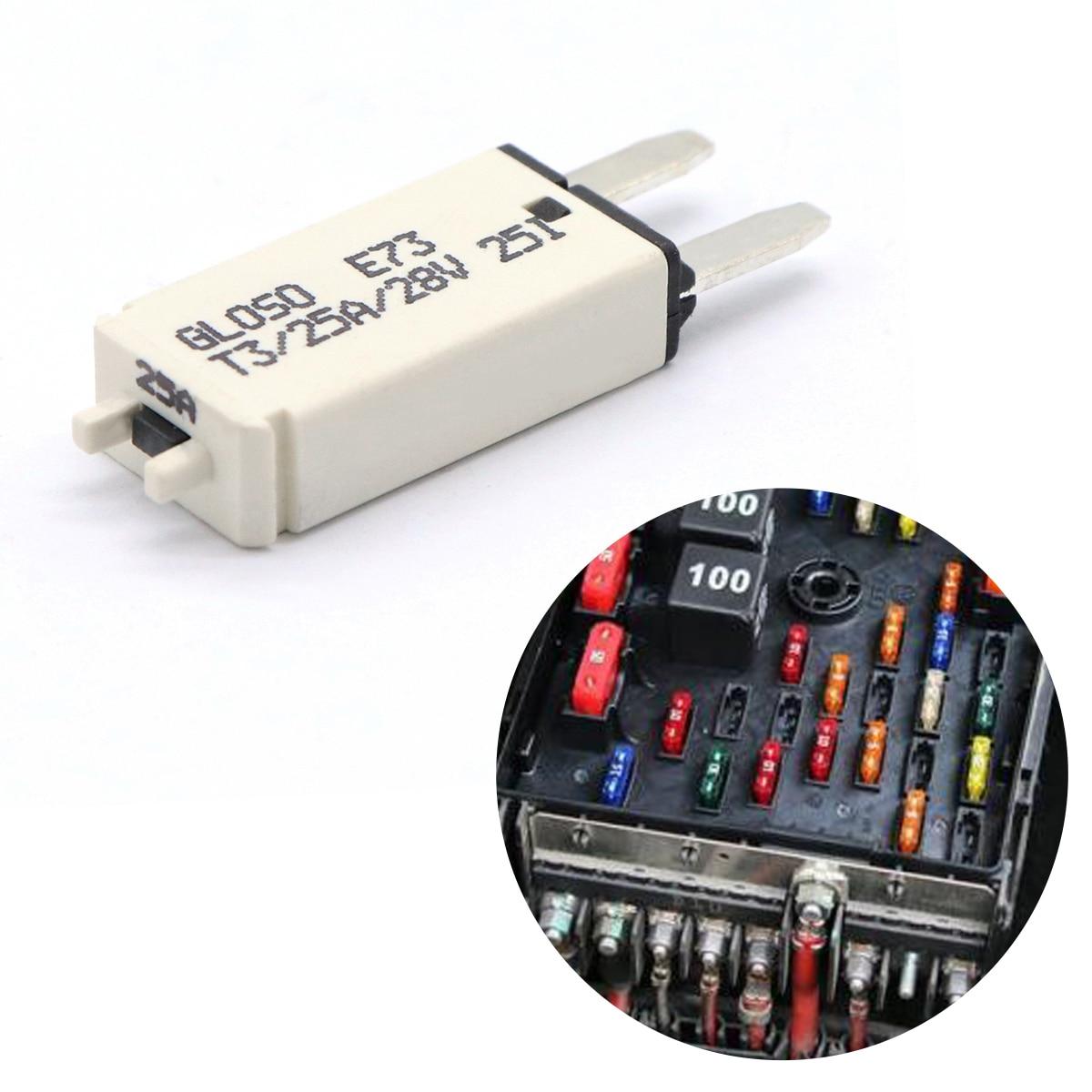 Fuse Circuit Breaker Manual Reset Blade Car Auto Resetable 7.5//10//15//20//25//30A