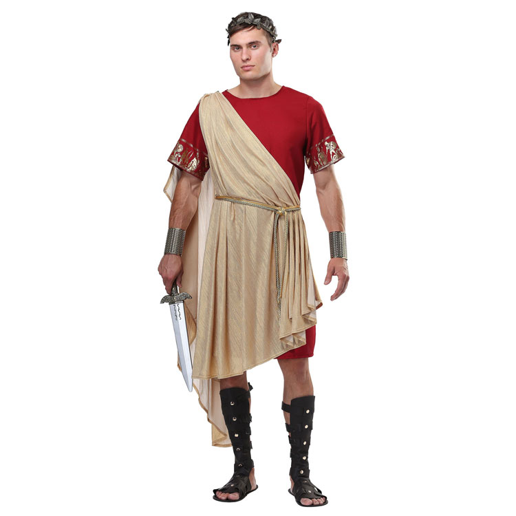 Mens Ancient Style Roman Toga Crazy Fun Collegiate Party Dress-up Adult Historical Halloween Carnival Costume