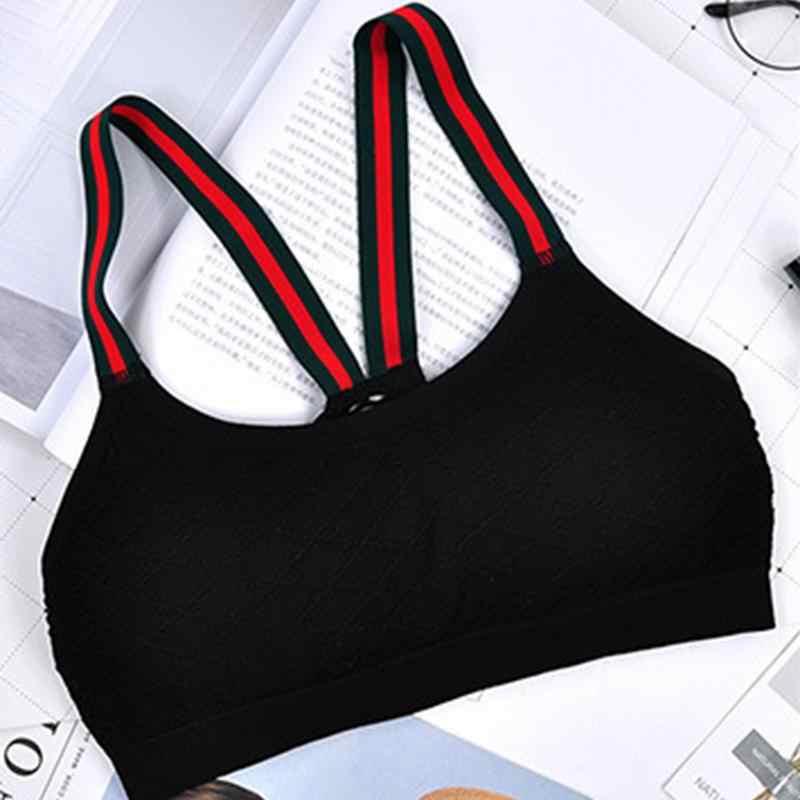 Phụ nữ Áo Ngực Thể Thao Bể Không Tay Tập Thể Hình Áo Vest Đen Một Kích Thước Áo Ngắn Đáy Hũ Làm Đẹp Lưng Sling Đồ Lót Áo Ngực áo Ngực Sexy