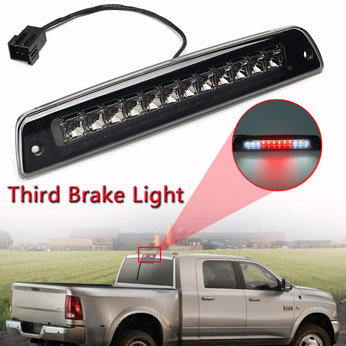 Us 19 2 34 Off For 1994 2001for Dodge Ram 1500 2500 3500 Smoke Rear Led Third White Red Clear Tail Rear Brake Stop Led Light In Signal Lamp Car In