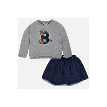 Комплект: толстовка и юбка Mayoral для девочки