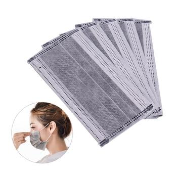 a65e23daab9 100 piezas máscaras de cuatro capas de carbón activado quirúrgico gancho  médico desechable máscara filtros para
