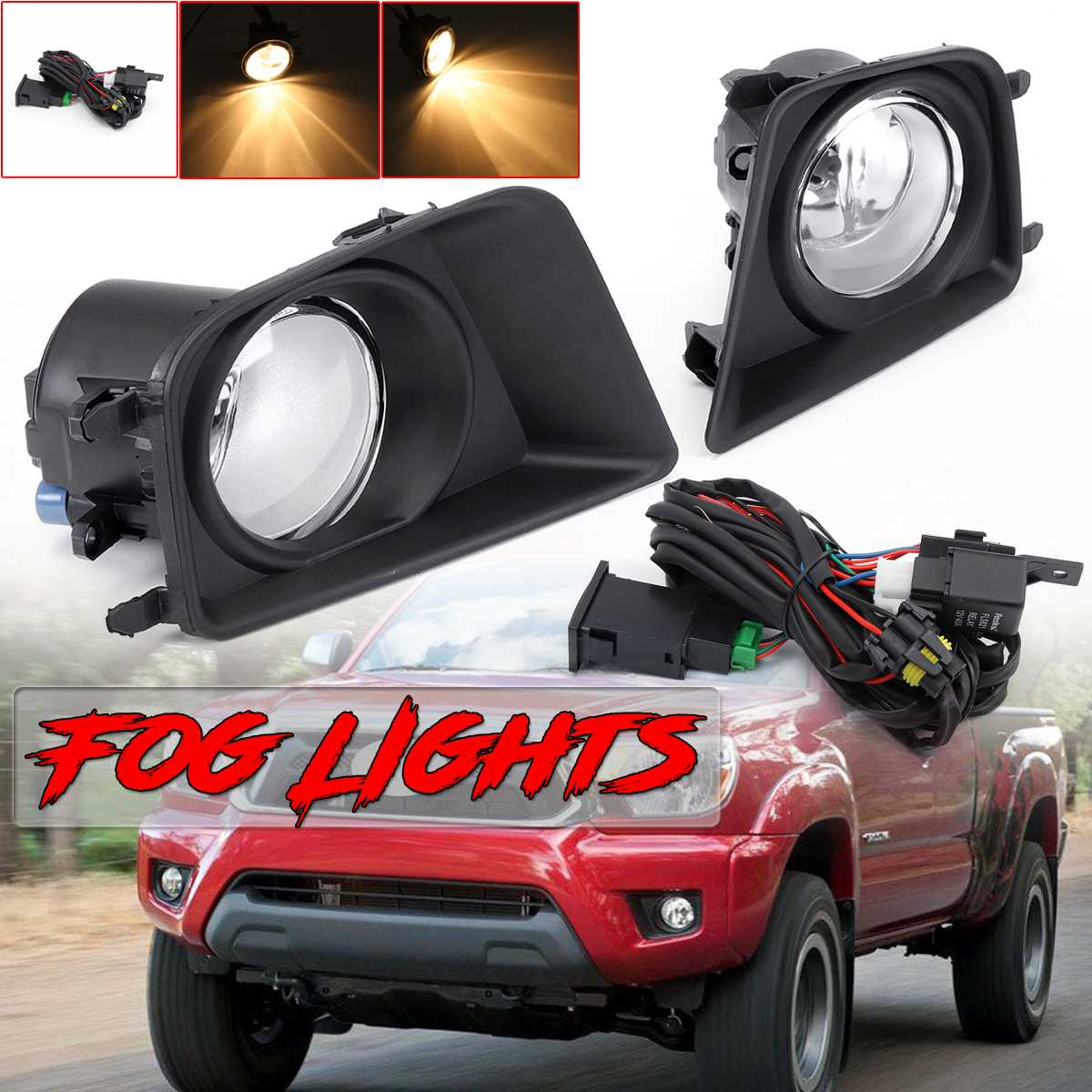3 Type Fog Light For Cars A Pair Car Front Bumper Fog Light Lamp For Toyota Tacoma 2012 2015 Fog Light Lamp Assembly