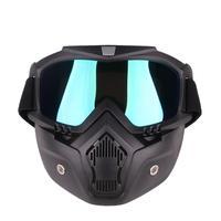 取り外し可能なオートバイ戦術フェイスゴーグルマスクモト風防塵レーシングサイクリングヘルメット保護ゴーグルオープンフェースマスク -