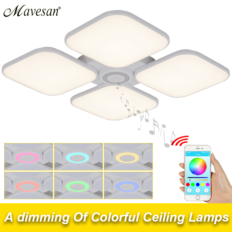 Music Celing Lights led 72w for living room lamp with Bluetooth Control Lampshade dome led lamp fixtures De Techo Plafond AbajurMusic Celing Lights led 72w for living room lamp with Bluetooth Control Lampshade dome led lamp fixtures De Techo Plafond Abajur