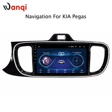 9 inch Android 8.1 4cores full touch screen car audio radio gps navigation for kia pegas 2017 multimedia system rear camera