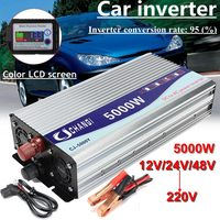 Inverter 12V/24V/48V 220V 5000W 10000W Peak Modified Sine Wave Power Voltage transformer Inverter Converter + LCD display