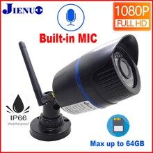 JIENUO IP Kamera Wifi 720 P 960 P 1080 P HD Kablosuz Cctv Güvenlik Kapalı Açık Su Geçirmez Ses IP kamera Kızılötesi ev Gözetim