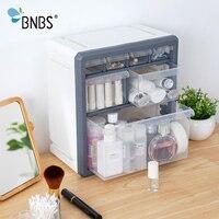 BNBS Plastic Storage Box Cosmetic Organizer Desktop Multi layer Drawer Case Tools Bead Rings Jewelry Makeup Organizer