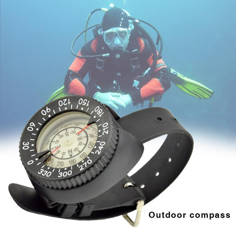 Diving Compass High Precision Professional Wrist Diving Compass 50M 164 Feet Outdoor Compass Fluorescent Dial Dropshipping