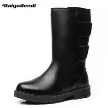 цена US 6-11 Waterproof Snow Boots Men Super Warm Mid-calf Boots Man Imitation Fur Winter Outdoor Plush Non-slip Cotton Shoes онлайн в 2017 году