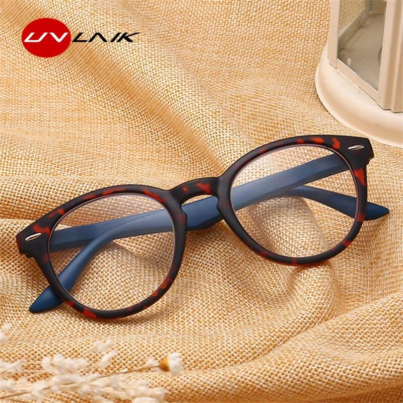 UVLAIK Toughness PC Reading Glasses Women Men Ultralight Resin Material Female Male Prescription Glasses +1 +1.5 +2 +2.5 +3 +3.5