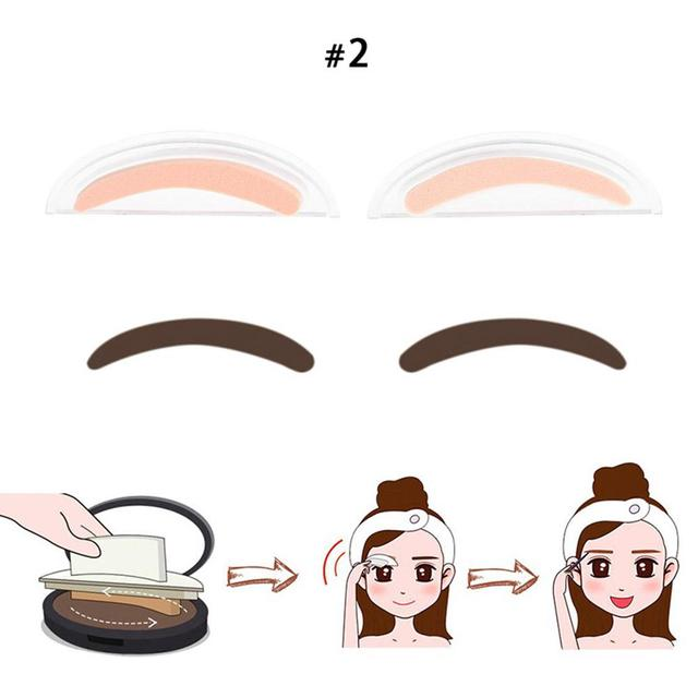 BellyLady 2Pcs Fashion Sponge Eyebrow Stamps for Eye Makeup 4