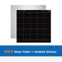Prusa I3 MK3 MK52 253.8*241mm Spring Steel Platform Plate + MK3 3D Printing Heatbed Sticker For Reprap 3D Printer Parts