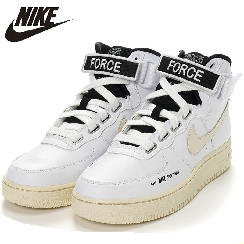 outlet store 4c081 0fbbc US $117.11 51% OFF|Nike Air Force 1 Original Women's Skateboarding Shoes  Function High Help Cream Comfortable Breathable Sneakers #AJ7311 100-in ...