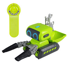 969 Infrared Control 3 in 1 Intelligent Engineering Excavator Driller Pushdozer Programmable Music Dance Truck RC Robot Toy Gift(China)