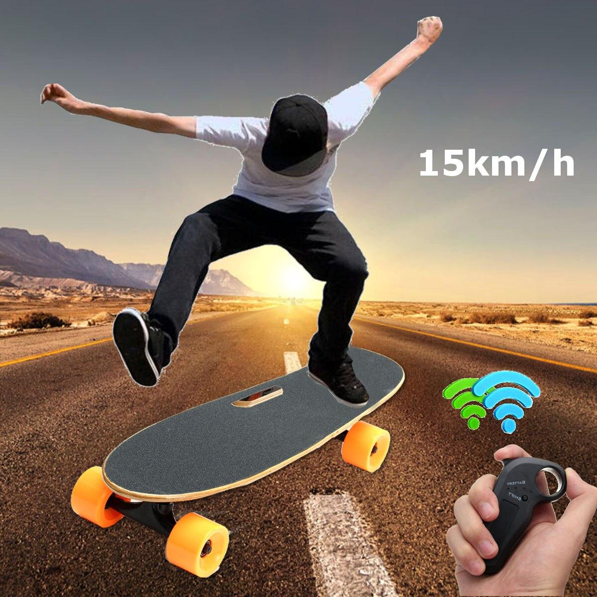 Nouveau planche à roulettes électrique Longboard 4 roues sans fil télécommande planche à roulettes