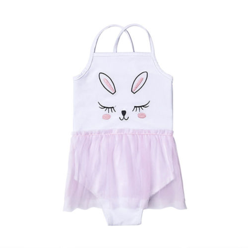 1-4Y Kid Girl Baby Girls Swimmers Clothing Summer Cute Rabbit Swimwear Swimsuit Tutu Skirt Costumes One Piece