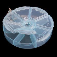 Портативный 7 подогревающий круглый наркотиков таблетки коробка медицина приспособления для резки чехол для хранения Организатор Контейнер Чехол Набор для путешествий