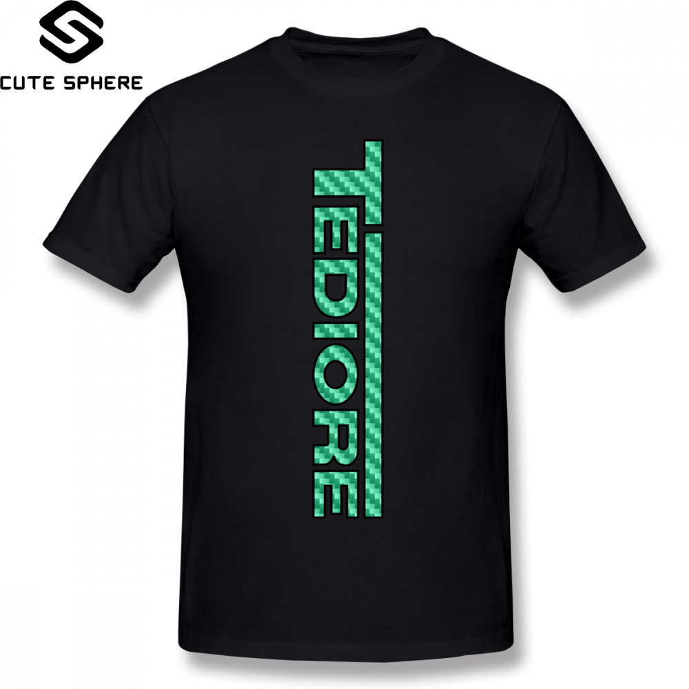 Borderlands T Shirt Tediore Carbon Logo T-Shirt 100 Percent Cotton Print Tee Shirt Short Sleeves Man Summer Funny Tshirt