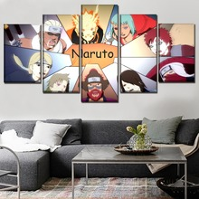 Home Decorative Wall Art Picture 5 Panel Game Naruto Shippuden Ultimate Ninja Storm Jinchuriki Poster Canvas Print Painting